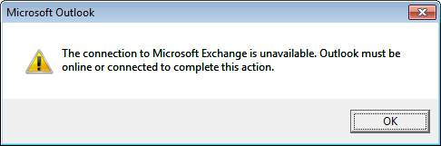 Exchange Unavailable